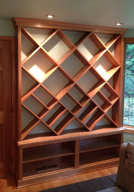diagonal bookcase